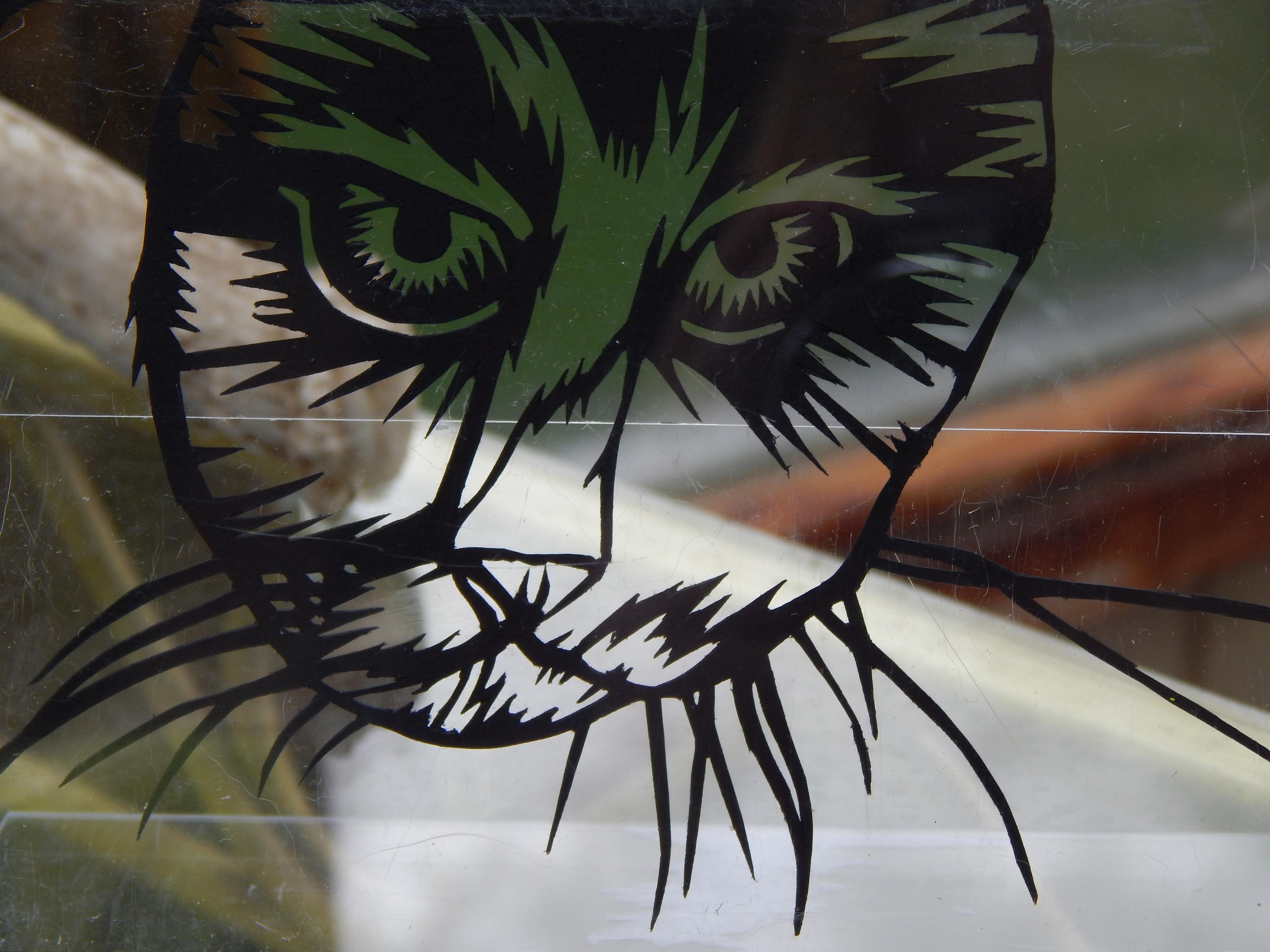 cat paper cutting