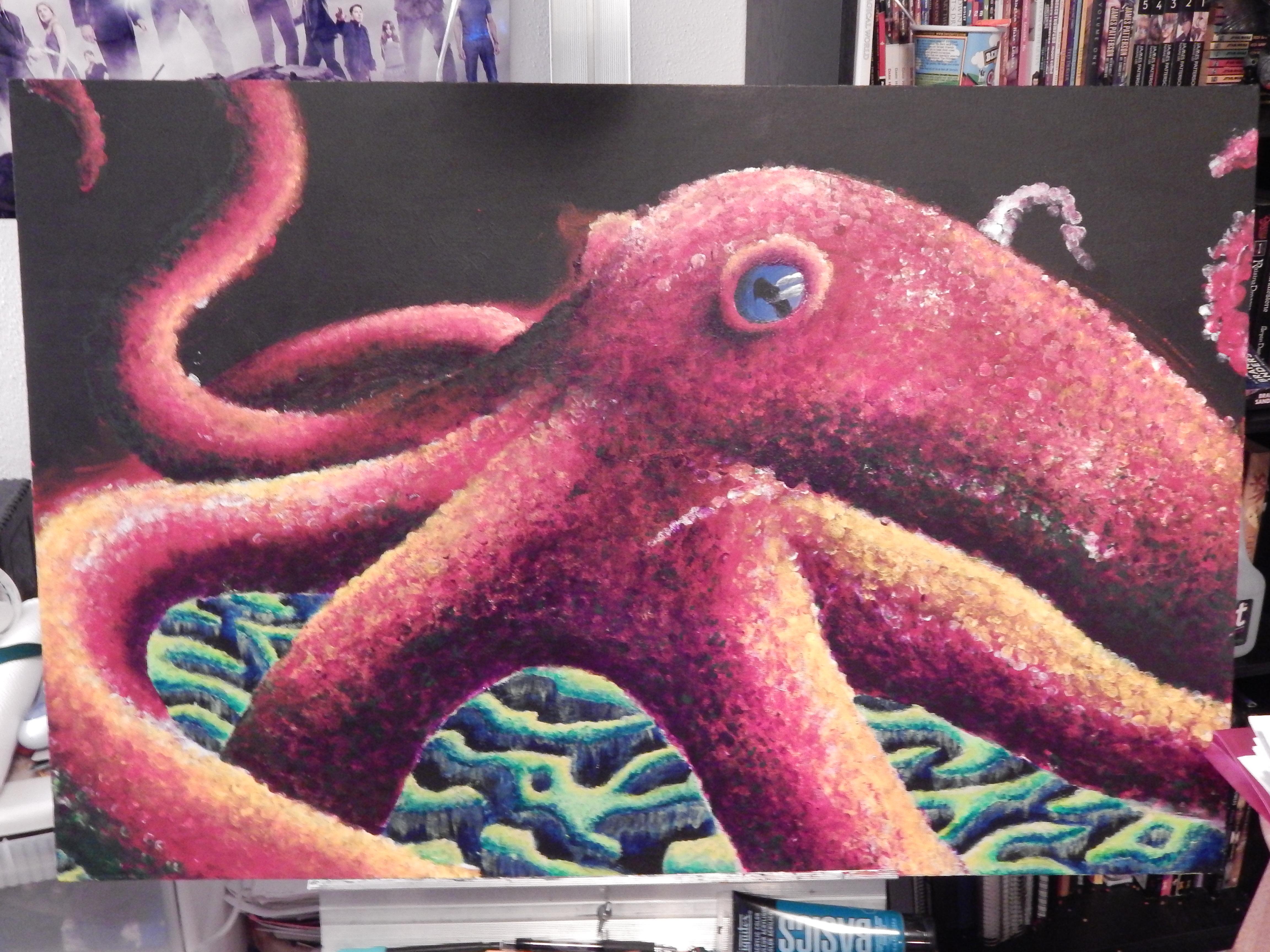 Finger Painting Octopus Part 3 work in progress