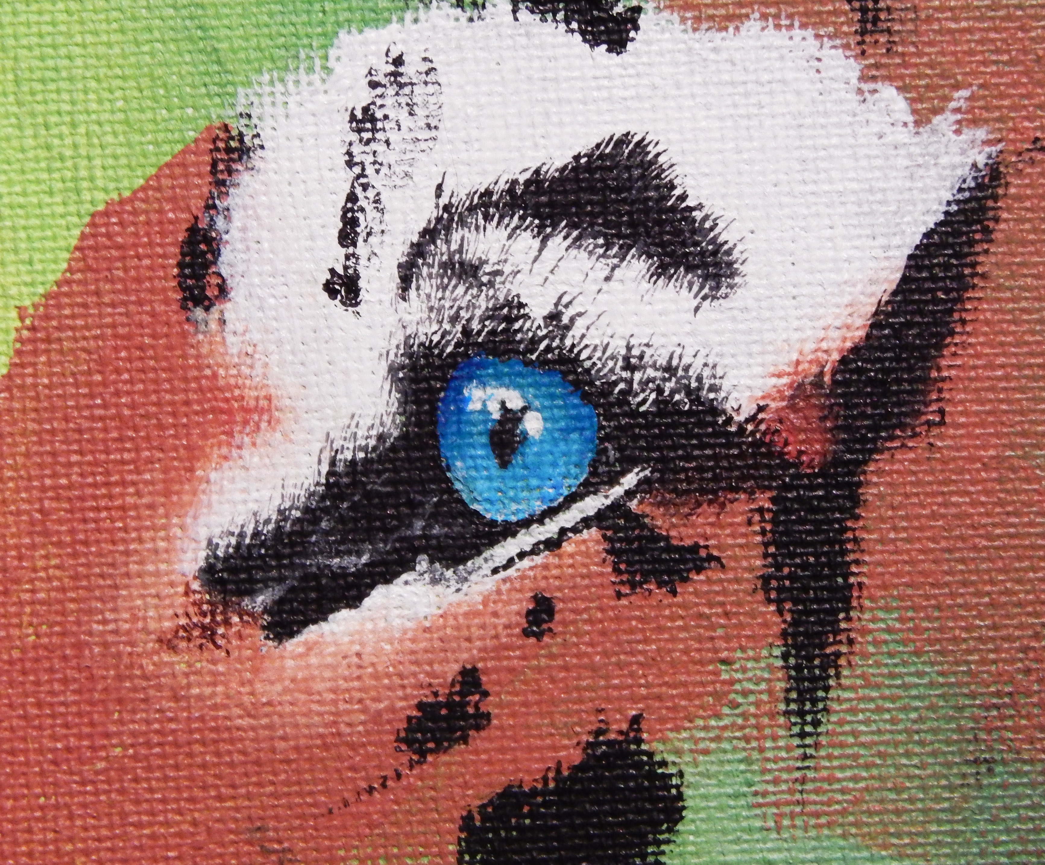 Tiger Painting work in progress close up