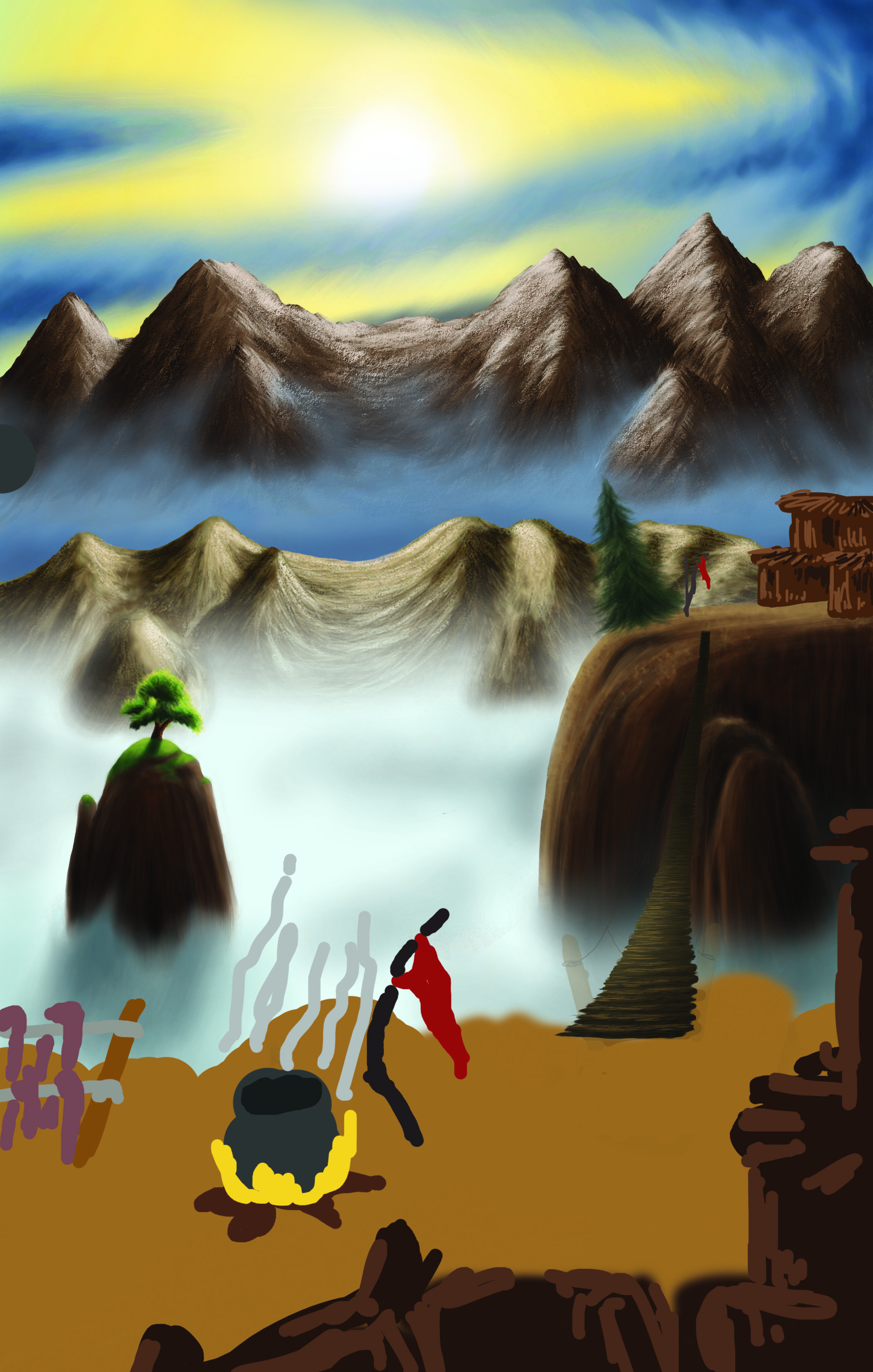 My Dream Scape -- Computer drawing 1-- cmyk copy copy